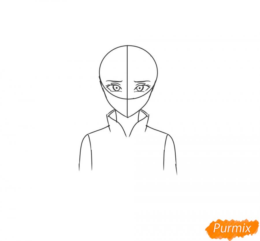 Рисуем и раскрасить Сакуру - шаг 4
