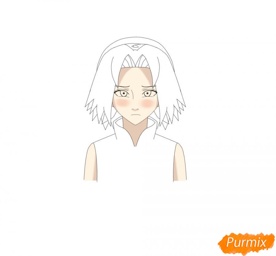 Рисуем и раскрасить Сакуру - шаг 7