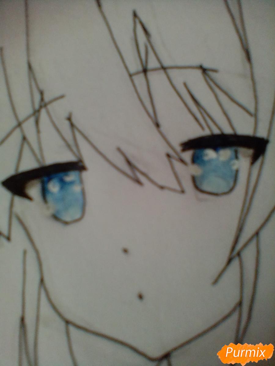 Рисуем и раскрасить Школьницу с книгой в стиле аниме - шаг 7