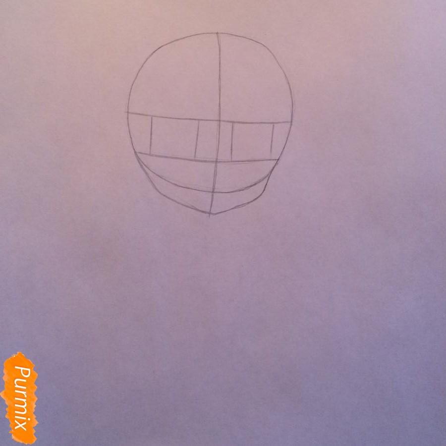 Рисуем и раскрасить стесняющуюся аниме девочку карандашами - шаг 1
