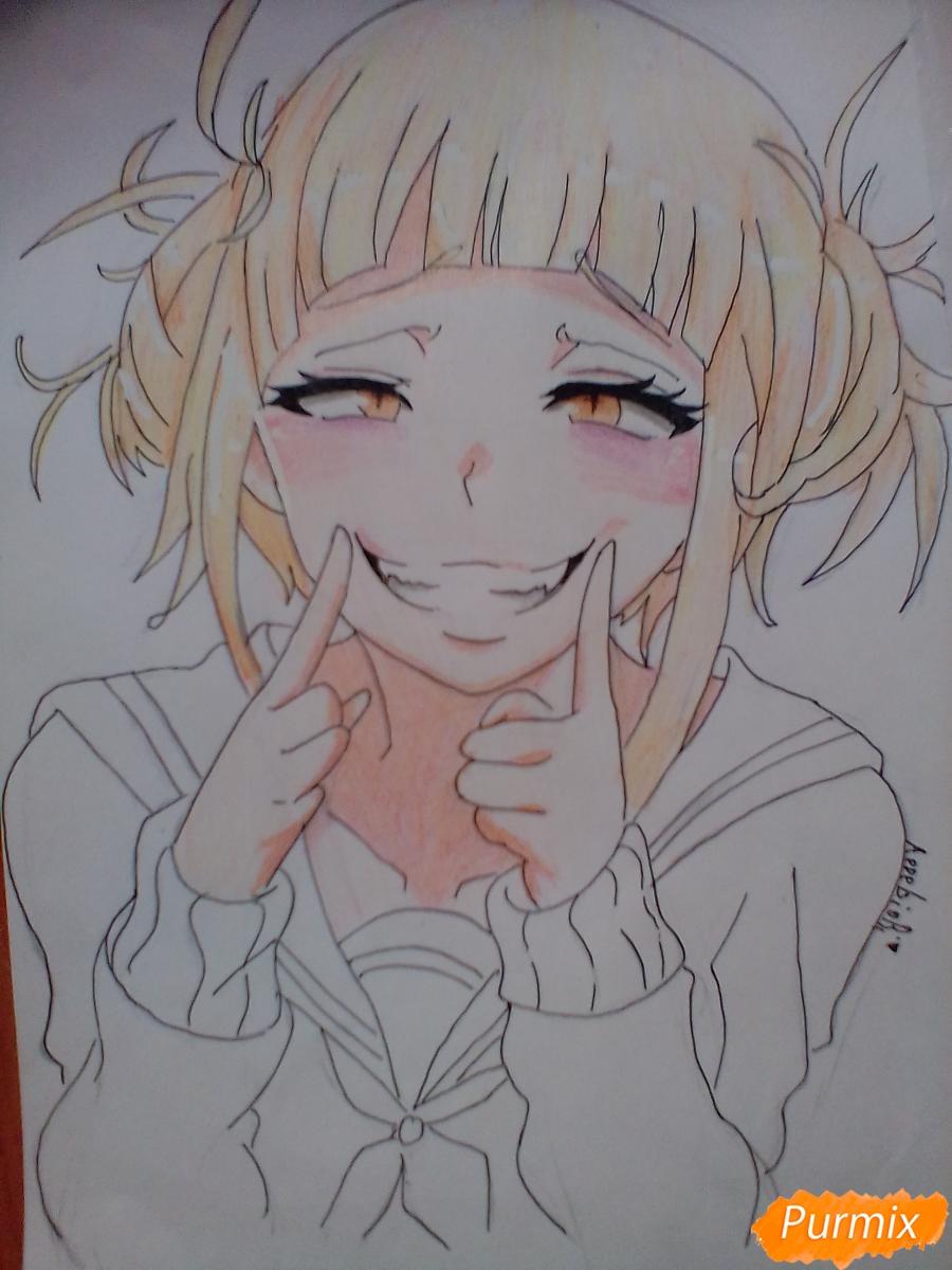 Рисуем улыбающуюся Тогу Химико - шаг 11
