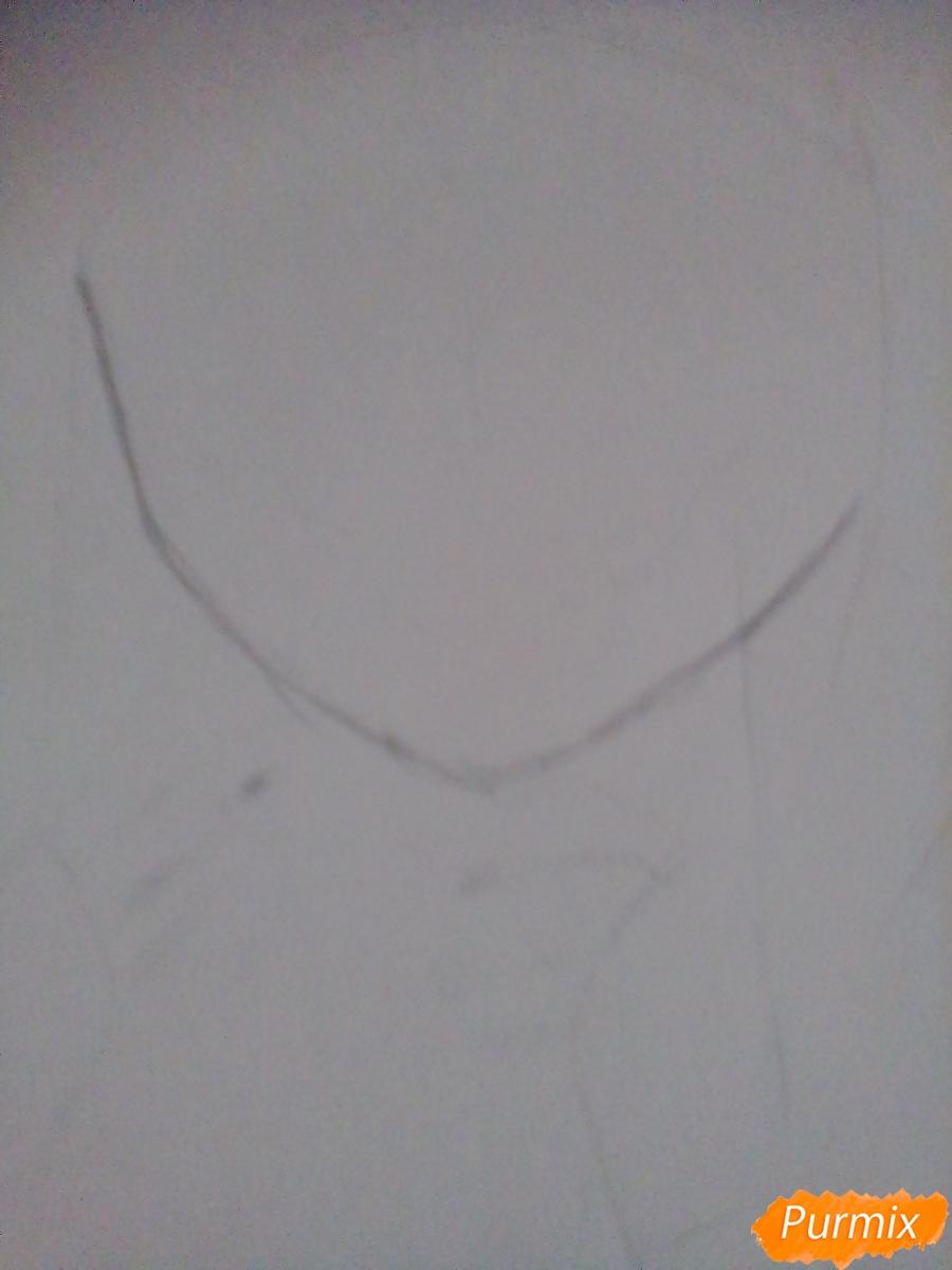Рисуем улыбающуюся Тогу Химико - шаг 2