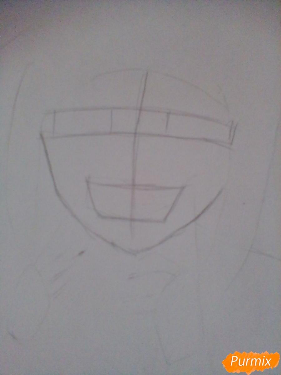 Рисуем улыбающуюся Тогу Химико - шаг 3