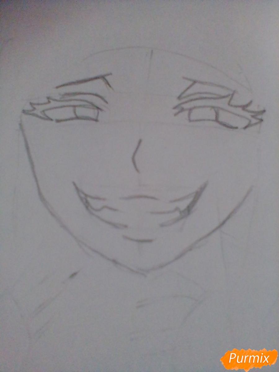 Рисуем улыбающуюся Тогу Химико - шаг 4