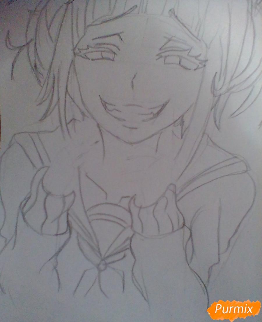 Рисуем улыбающуюся Тогу Химико - шаг 6