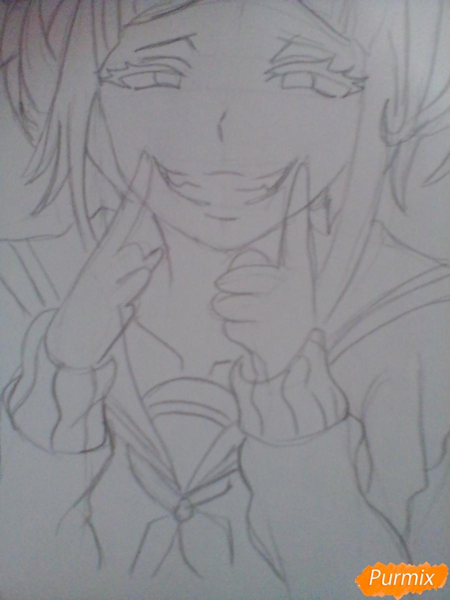 Рисуем улыбающуюся Тогу Химико - шаг 7