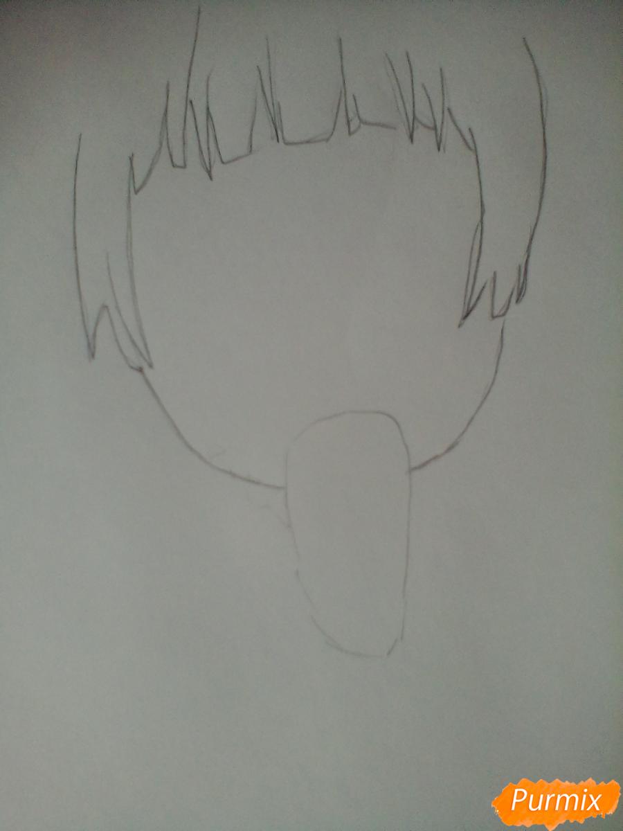 Рисуем и раскрасить Вокалоида Мику - шаг 1