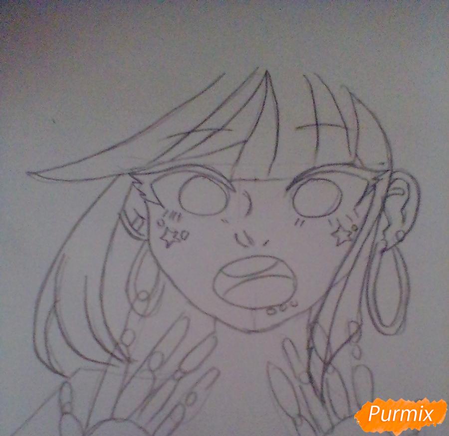 Рисуем Ибуки Миоду из аниме Школа Отчаяния - шаг 2
