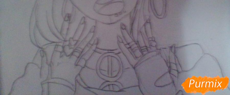Рисуем Ибуки Миоду из аниме Школа Отчаяния - шаг 3