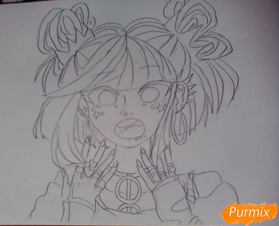 Рисуем Ибуки Миоду из аниме Школа Отчаяния - шаг 4
