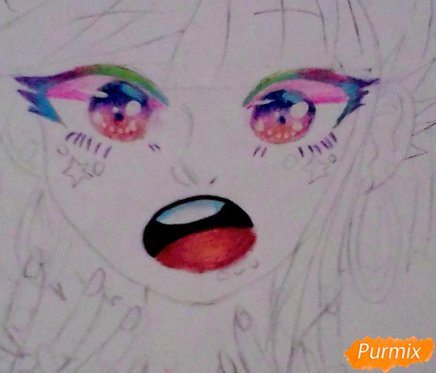 Рисуем Ибуки Миоду из аниме Школа Отчаяния - шаг 5