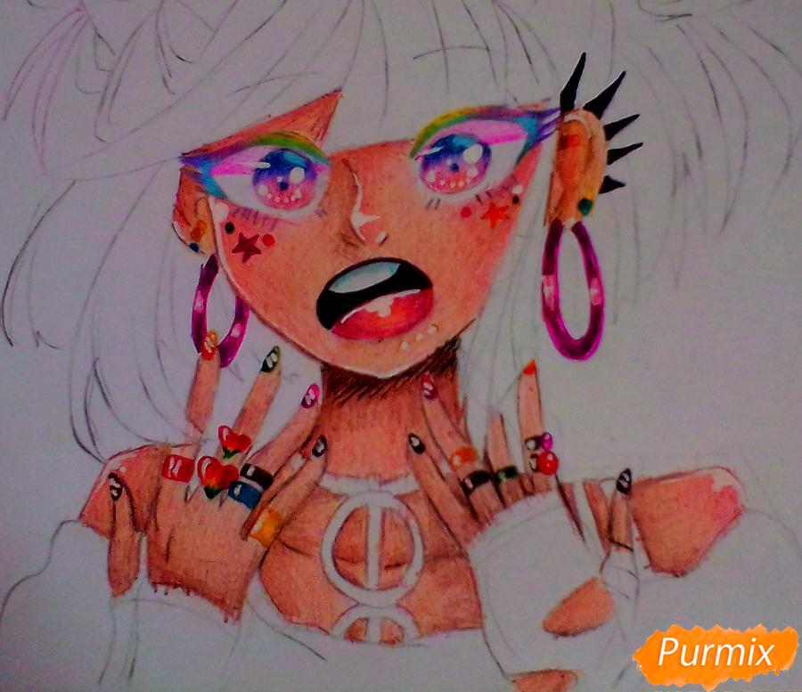 Рисуем Ибуки Миоду из аниме Школа Отчаяния - шаг 6