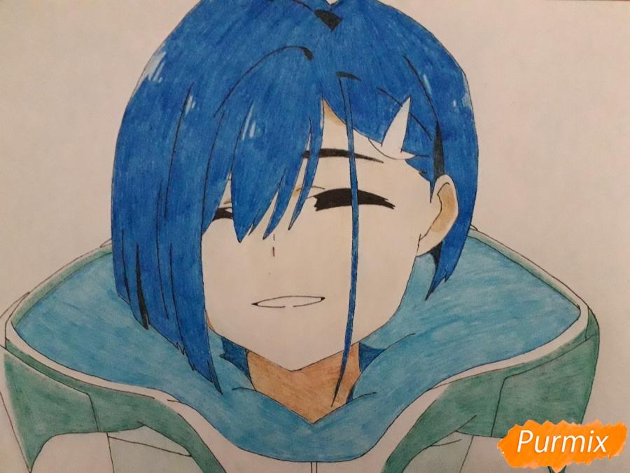 Рисуем Ичиго из аниме Милый во Франксе - шаг 10