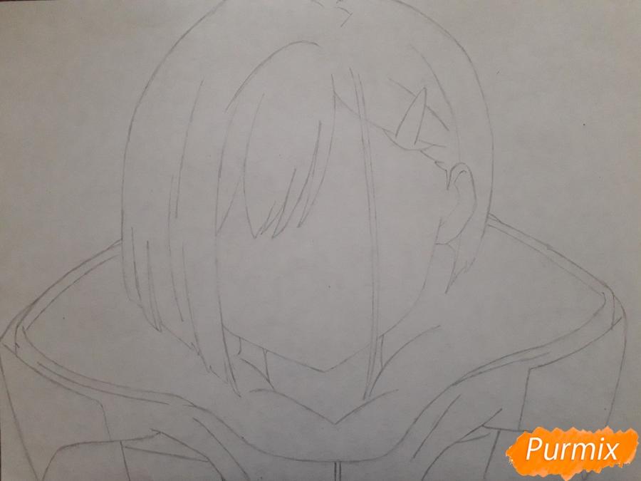 Рисуем Ичиго из аниме Милый во Франксе - шаг 3
