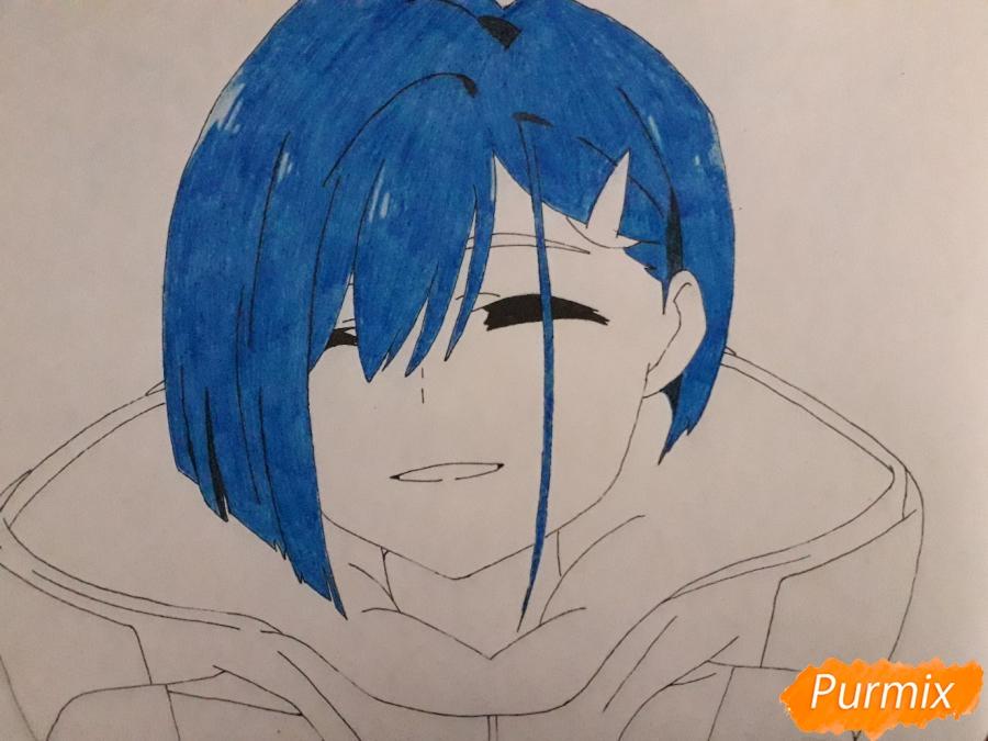 Рисуем Ичиго из аниме Милый во Франксе - шаг 7