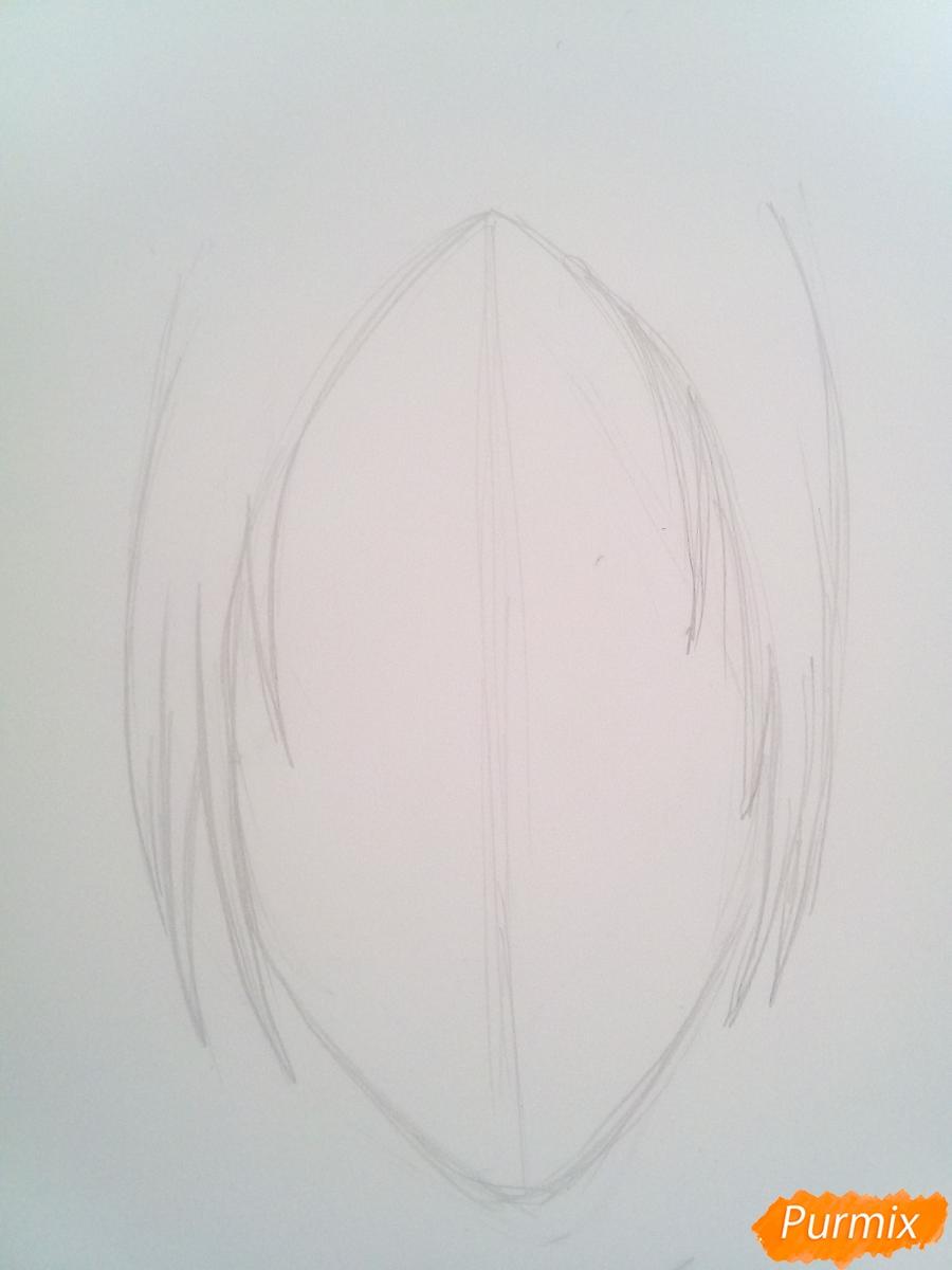 Рисуем Имир из аниме Атака Титанов карандашами - шаг 1