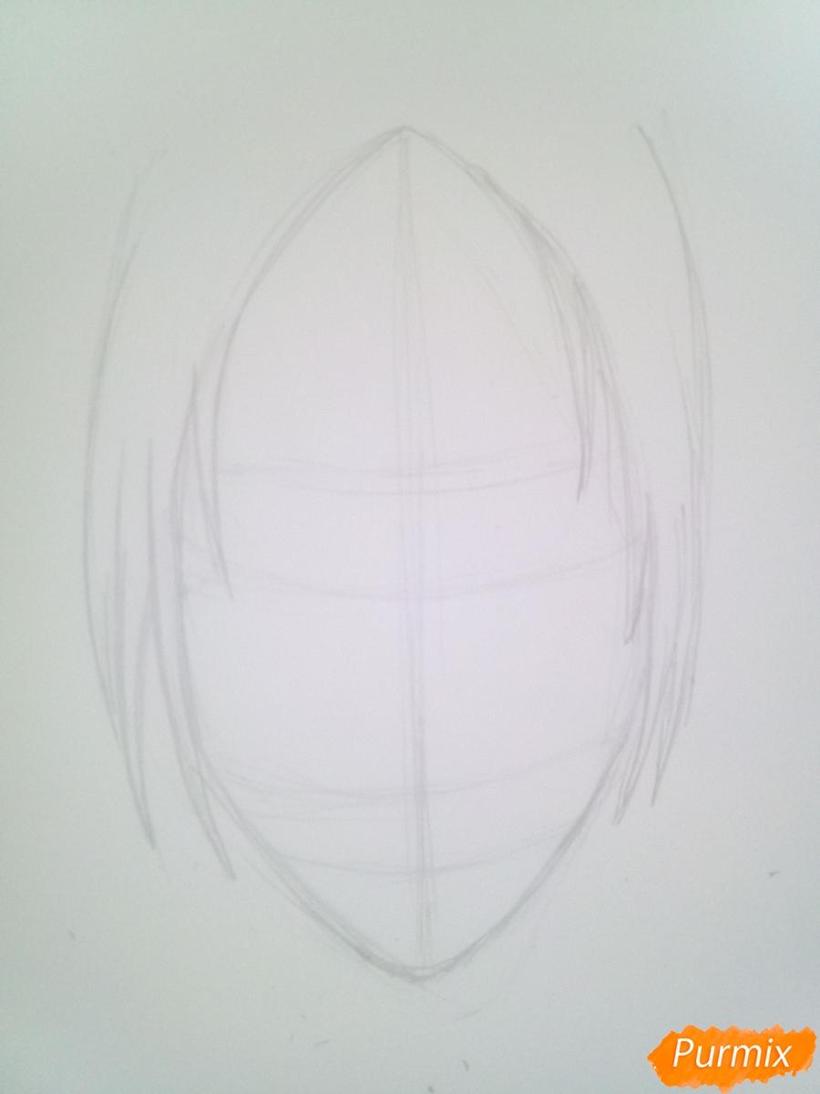 Рисуем Имир из аниме Атака Титанов карандашами - шаг 2
