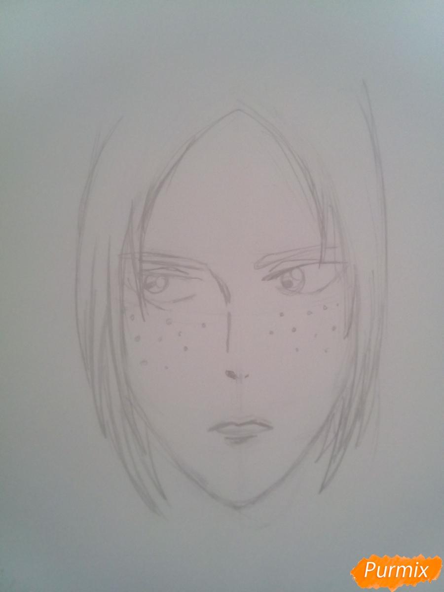 Рисуем Имир из аниме Атака Титанов карандашами - шаг 3