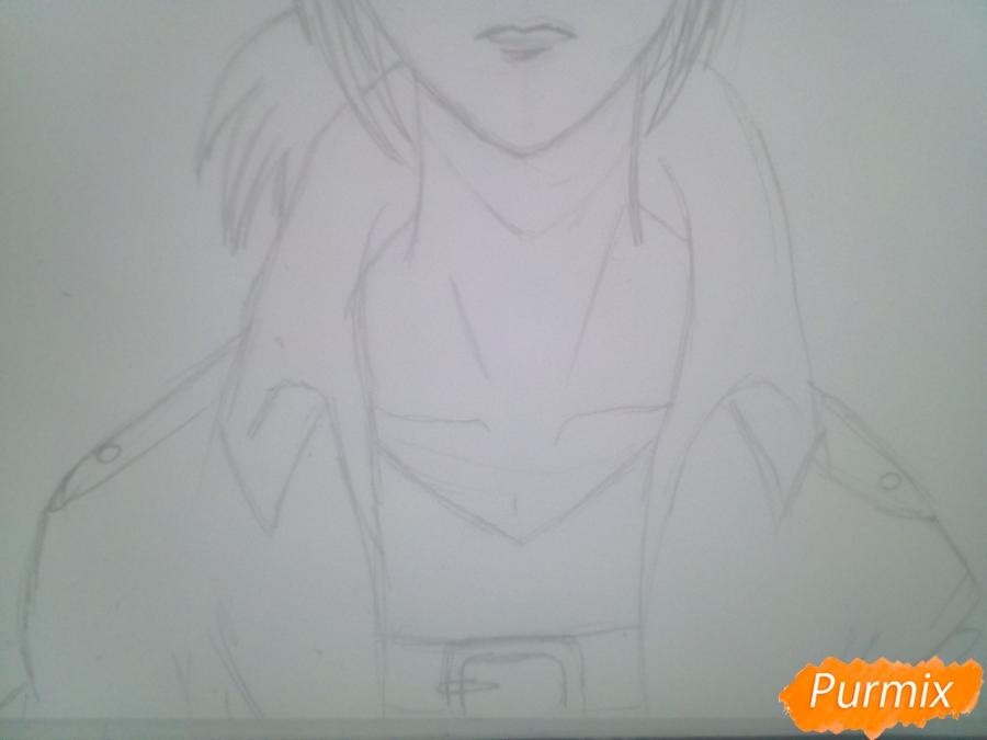 Рисуем Имир из аниме Атака Титанов карандашами - шаг 6