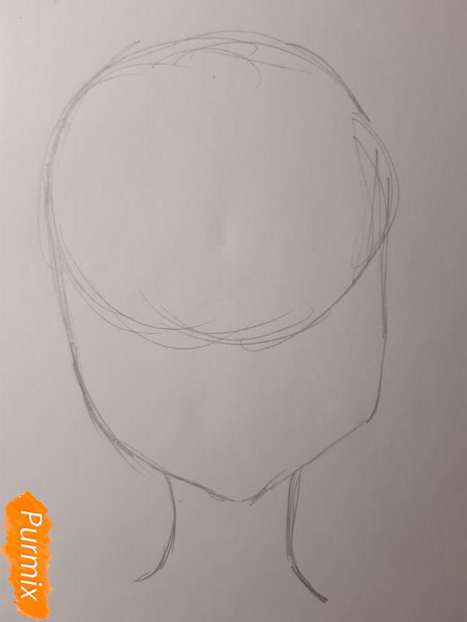 Рисуем Йоко Литтнер из аниме Гуррен Лаганн - шаг 1