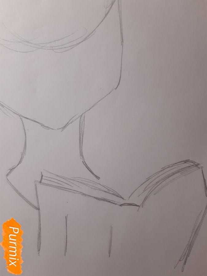 Рисуем Йоко Литтнер из аниме Гуррен Лаганн - шаг 2