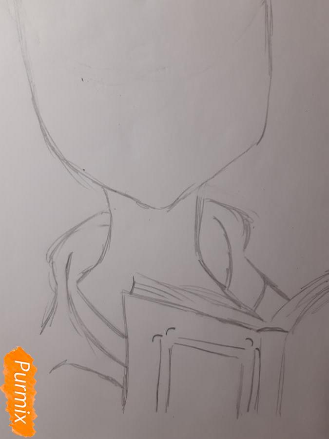 Рисуем Йоко Литтнер из аниме Гуррен Лаганн - шаг 3