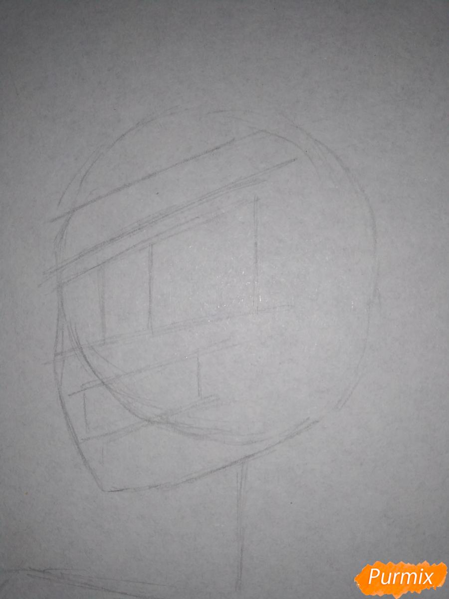 Рисуем Изуку Мидория из аниме Моя геройская академия карандашами - шаг 2