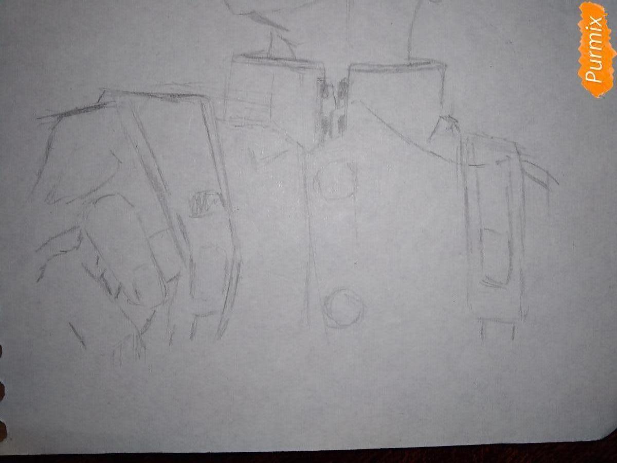 Рисуем Изуку Мидория из аниме Моя геройская академия карандашами - шаг 5