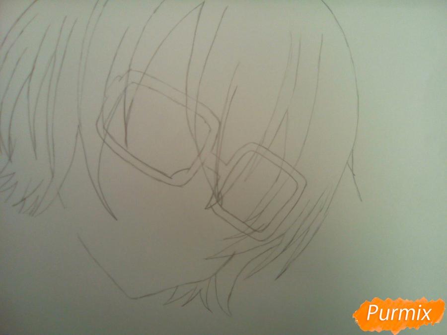 Рисуем Изуми из аниме Любовная сцена цветными карандашами - шаг 2