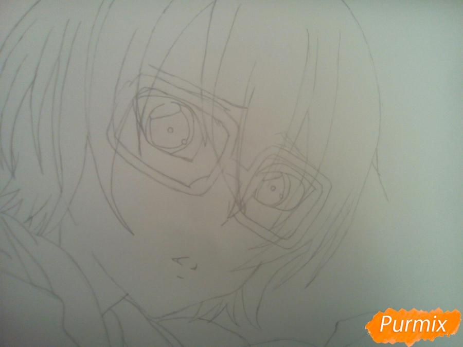 Рисуем Изуми из аниме Любовная сцена цветными карандашами - шаг 4