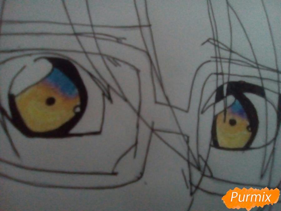 Рисуем Изуми из аниме Любовная сцена цветными карандашами - шаг 6