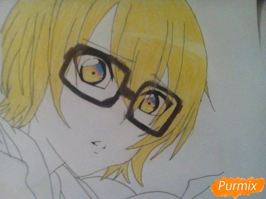 Рисуем Изуми из аниме Любовная сцена цветными карандашами - шаг 7