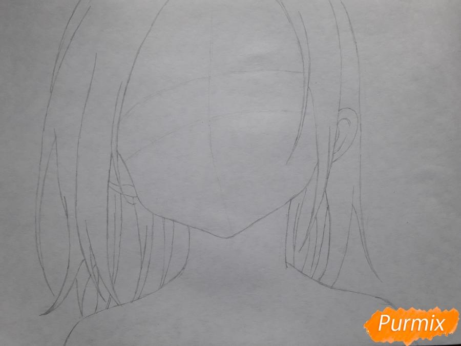 Рисуем Элейн из аниме Семь смертных грехов - шаг 2
