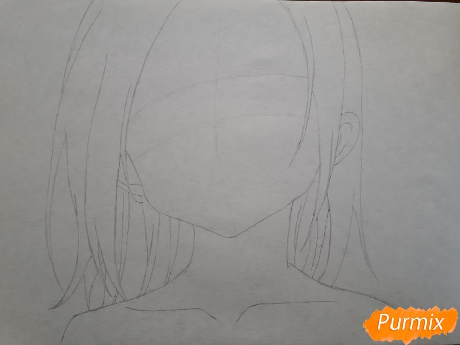 Рисуем Элейн из аниме Семь смертных грехов - шаг 3