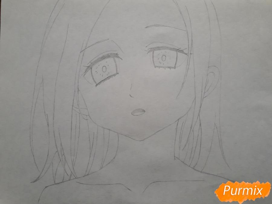 Рисуем Элейн из аниме Семь смертных грехов - шаг 4