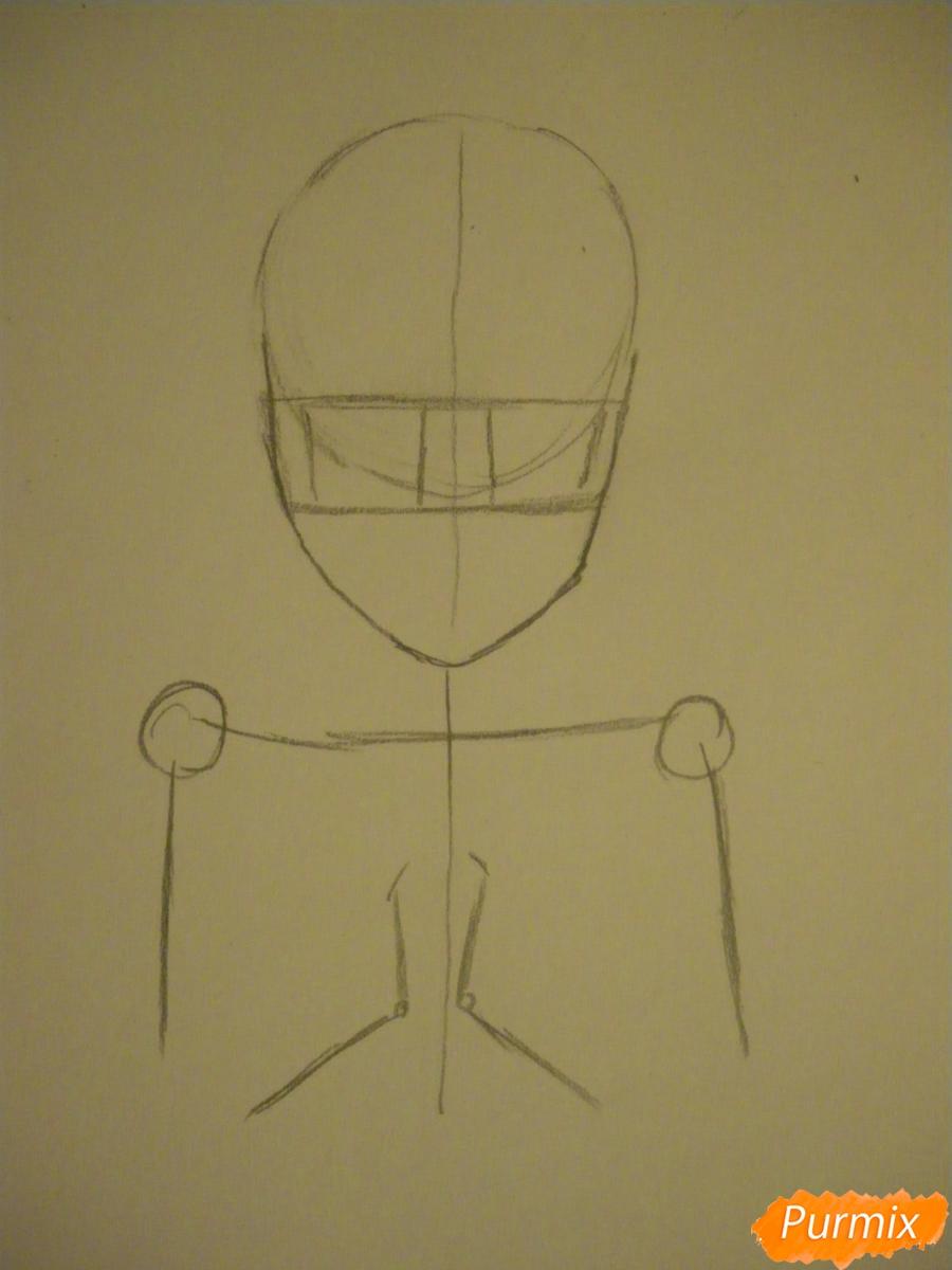 Рисуем Элизабет из аниме Тёмный Дворецкий цветными карандашами - шаг 1