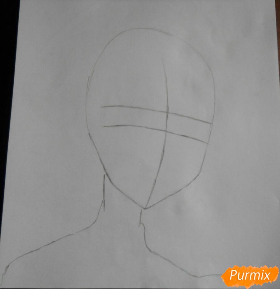 Рисуем Эмерду из аниме Сатана на подработке - шаг 1