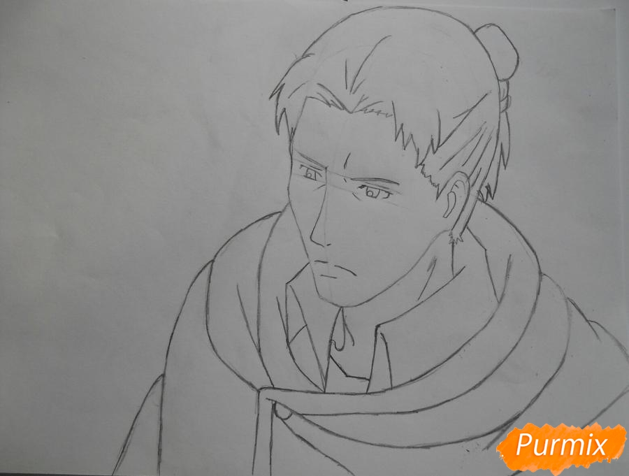 Рисуем Эрда из аниме Атака титанов - шаг 4