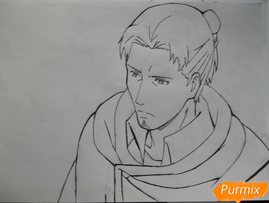Рисуем Эрда из аниме Атака титанов - шаг 6