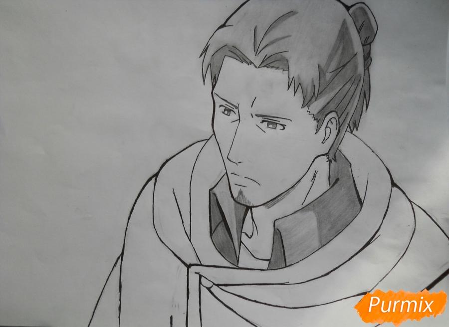 Рисуем Эрда из аниме Атака титанов - шаг 8