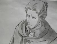 Эрда из аниме Атака титанов карандашом