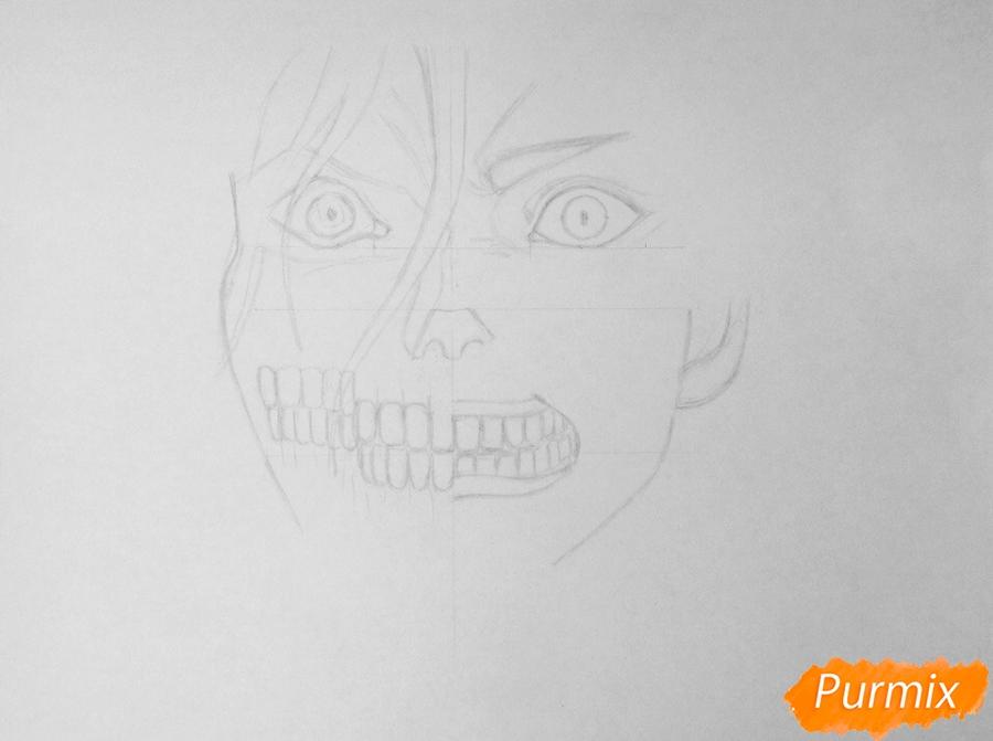 Рисуем Эрена Йегера из аниме Атака Титанов - шаг 2