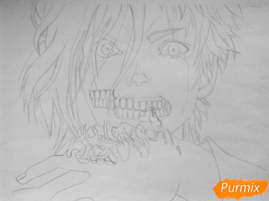 Рисуем Эрена Йегера из аниме Атака Титанов - шаг 4