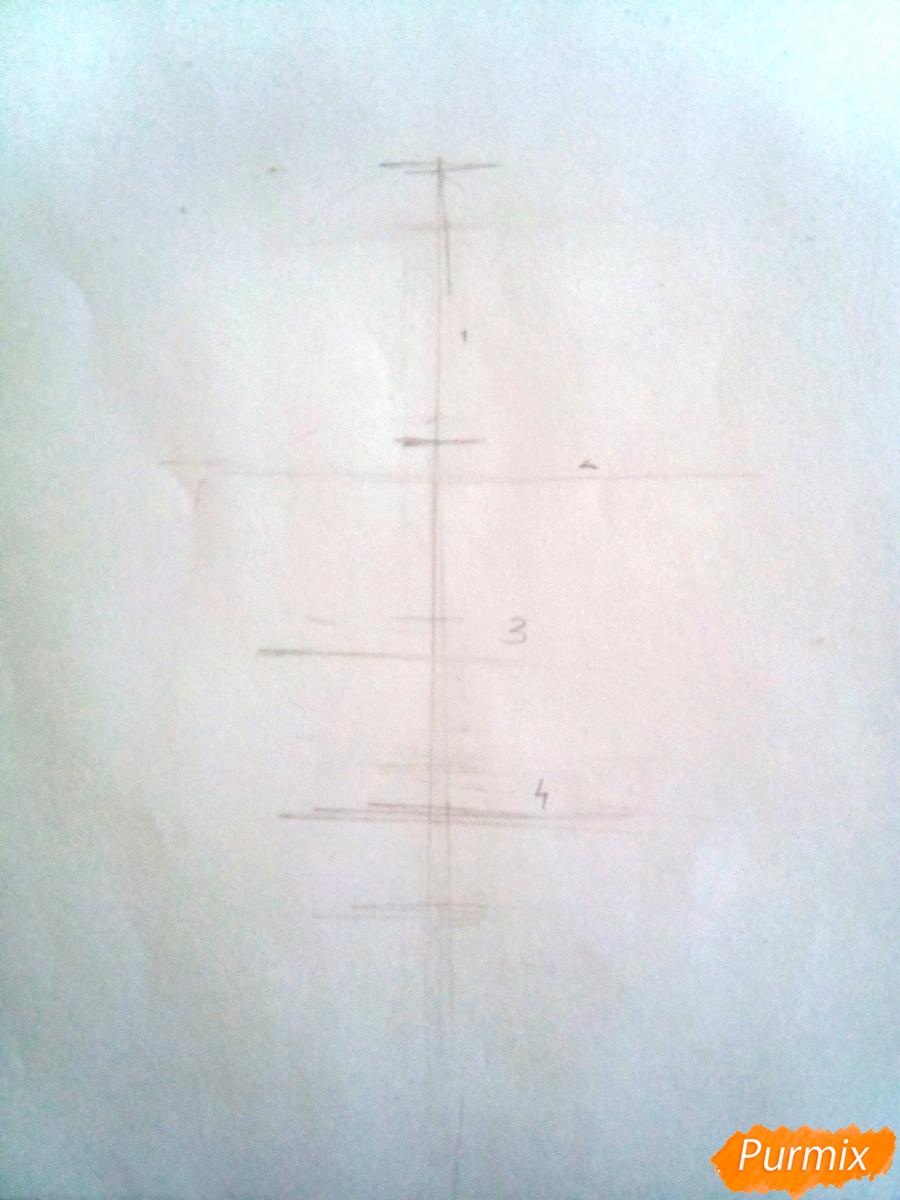 Рисуем Эрвина Смита из аниме Атака Титанов - шаг 1
