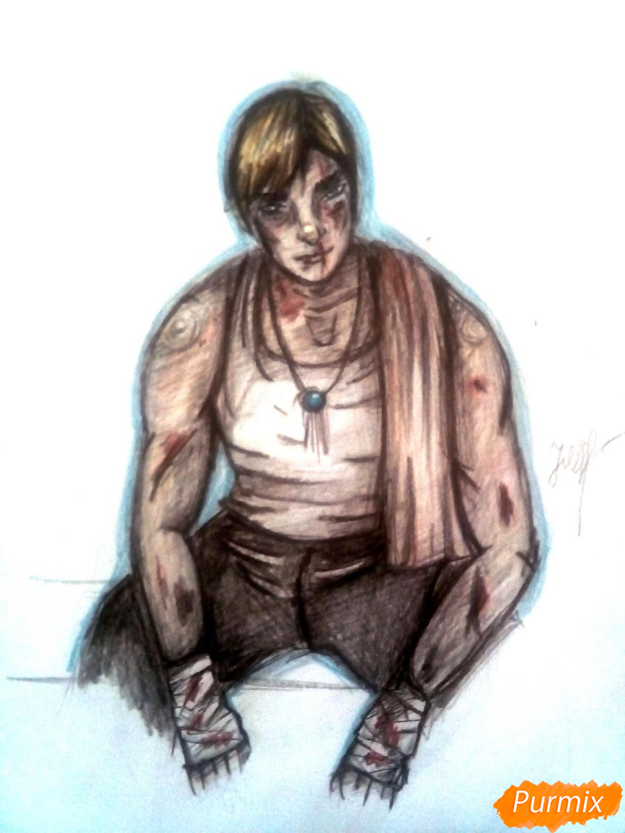 Как нарисовать Эрвина Смита из аниме Атака Титанов