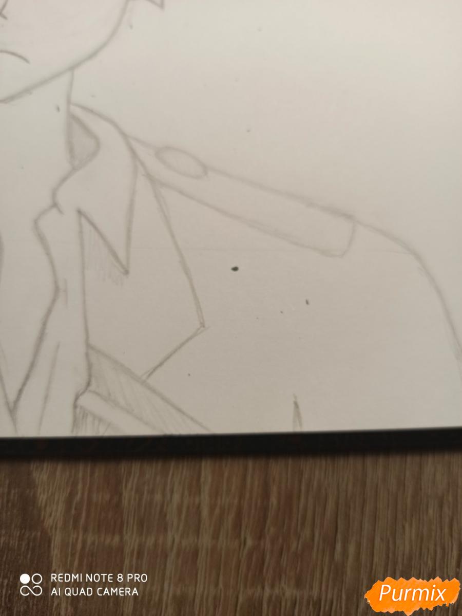 Рисуем Кацуки Бакуго из аниме Моя геройская академия - шаг 5