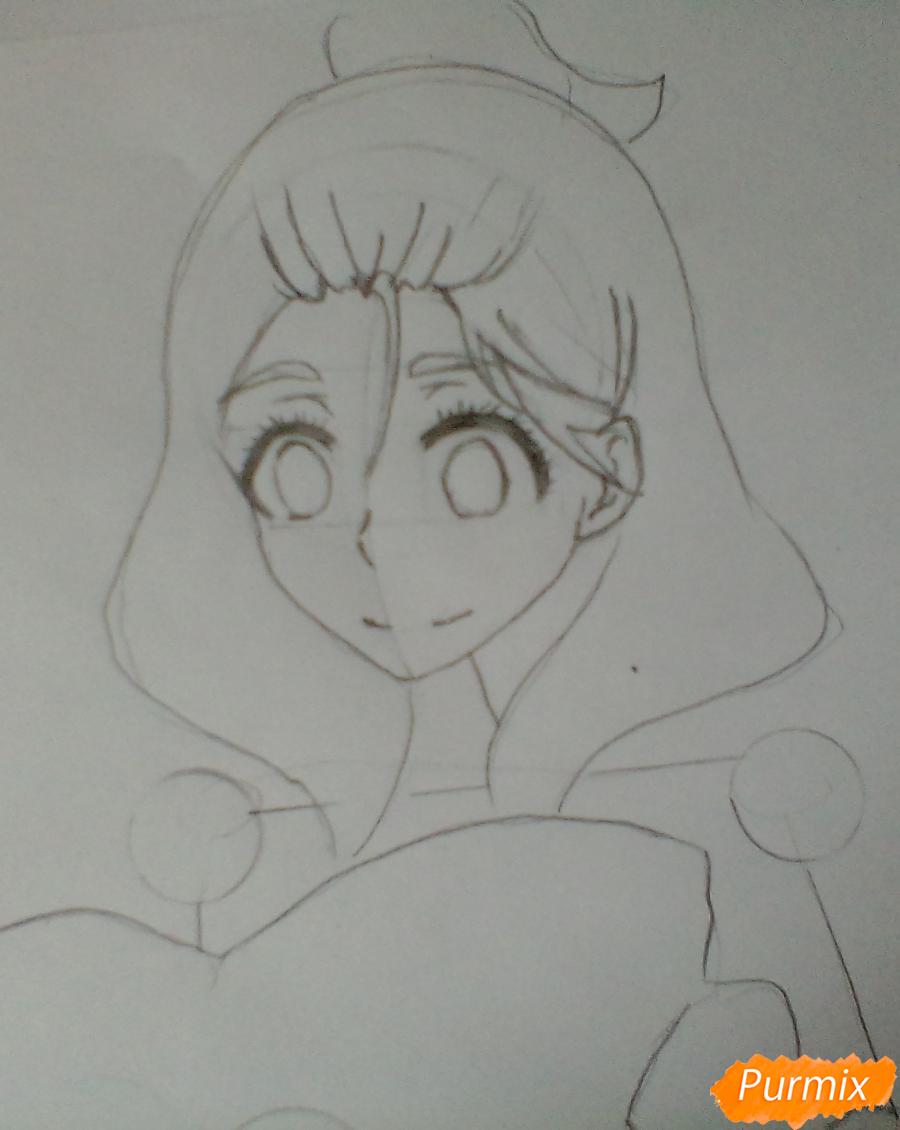 Рисуем Каэ из аниме Я требую яоя карандашами - шаг 2