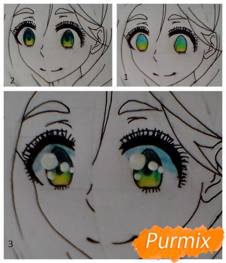 Рисуем Каэ из аниме Я требую яоя карандашами - шаг 6