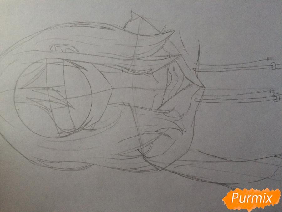 Рисуем и раскрасить Каэ Сэринуму из аниме Я требую яоя - шаг 4