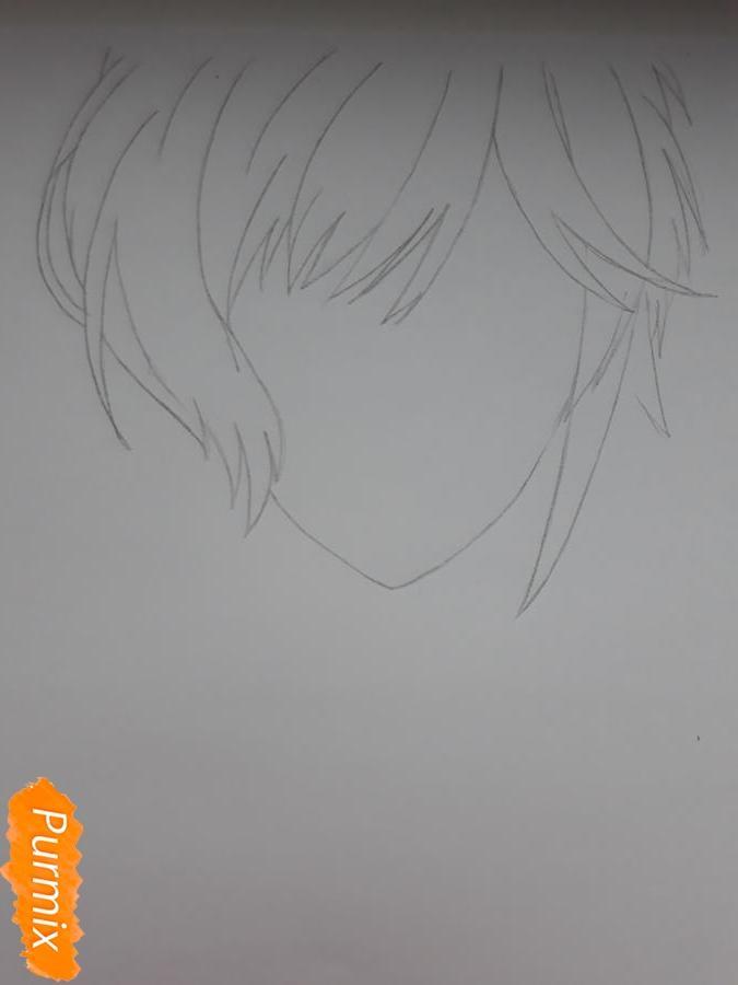 Рисуем Канато Сакамаки из Дьявольских Возлюбленных - шаг 2